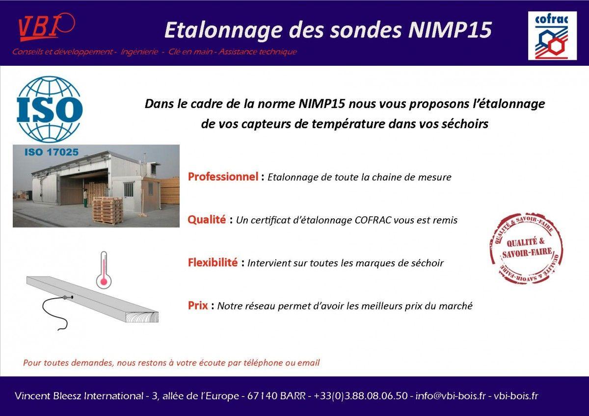 Etalonnage sondes NIMP15